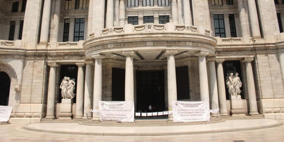 Impiden reapertura del Palacio de Bellas Artes