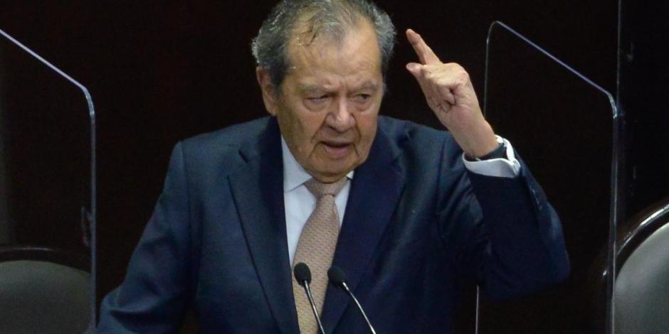 el legislador morenista, en  la tribuna de la Cámara de Diputados, el pasado 23 de abril, en la discusión de la reforma judicial.