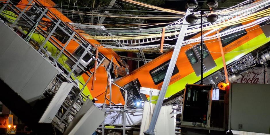 Línea 12 del Metro CDMX caída de vagones