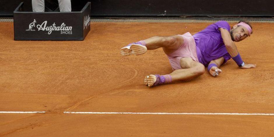 VIDEO: Así fue la brutal caída de Rafael Nadal en la Final del Masters 1000 contra Djokovic