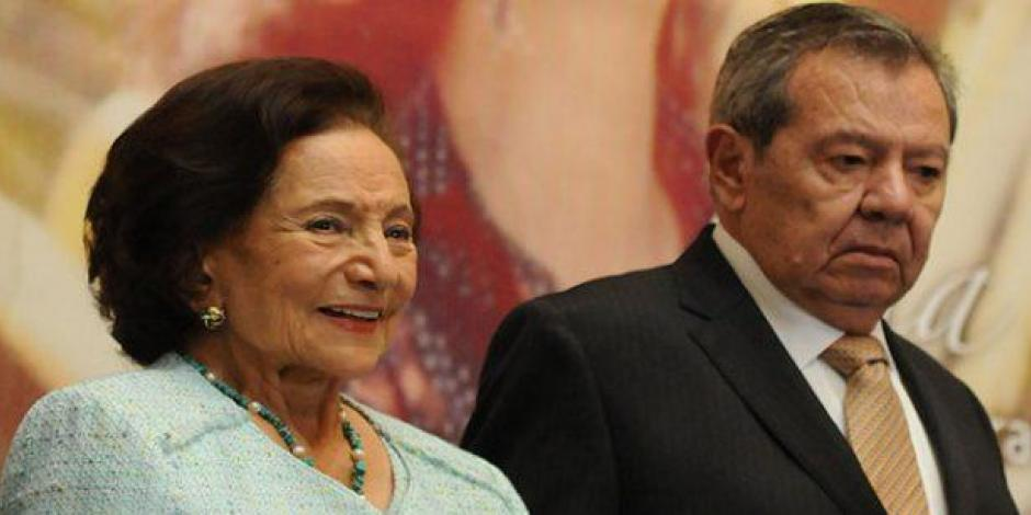 Muñoz Ledo e Ifigenia Martínez