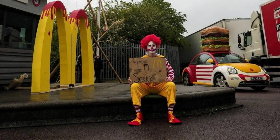 manifestación en McDonall's