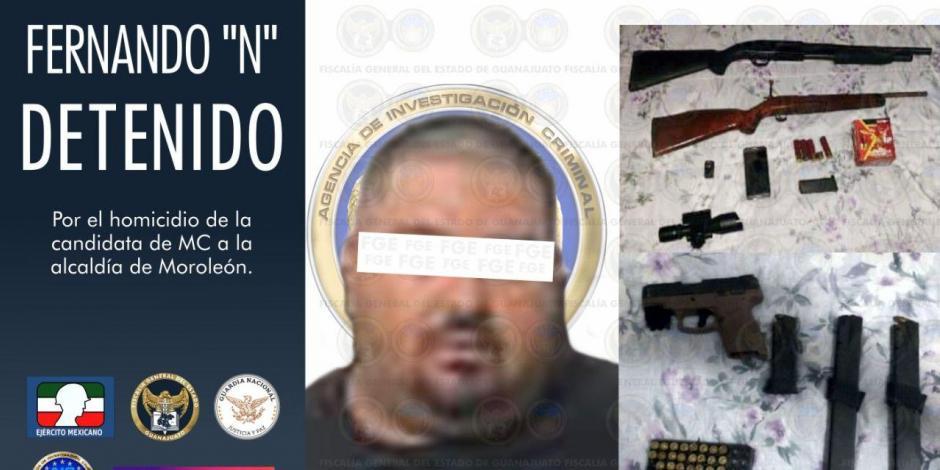 Presunto homicida de candidata Alma Barragán.