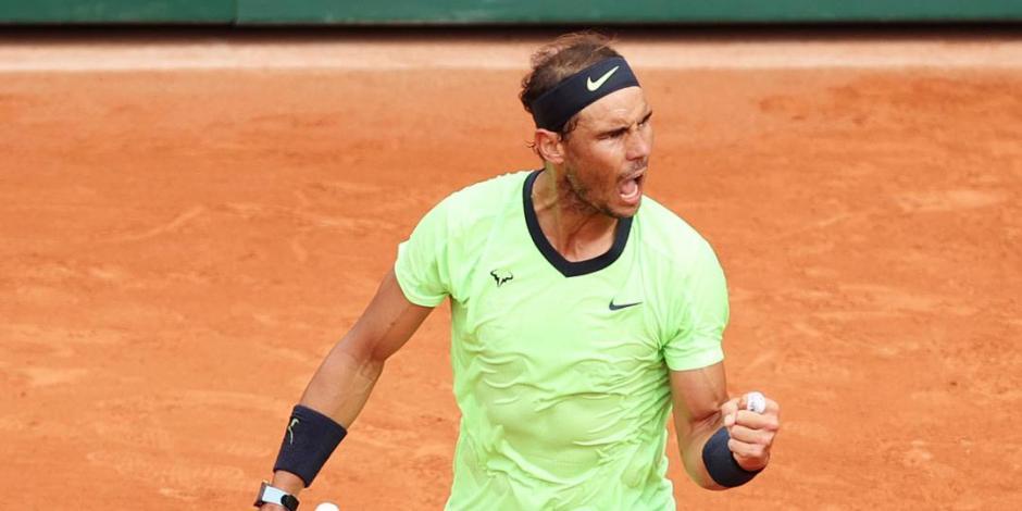 Rafael Nadal avanza a octavos de final en Roland Garros