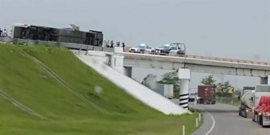 Accidente en la carretera Tampico-Mante