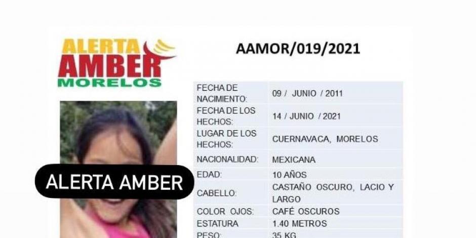 Alerta Amber Morelos