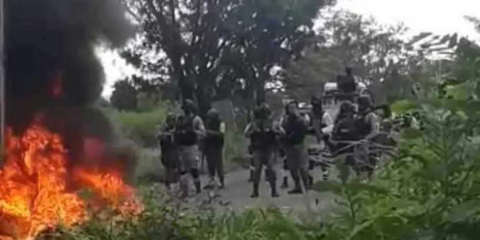 Crimen organizado bloquea paso a la Guardia Nacional en Buenavista, Michoacán