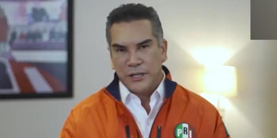 Alejandro Moreno durante un videomensaje, este lunes.