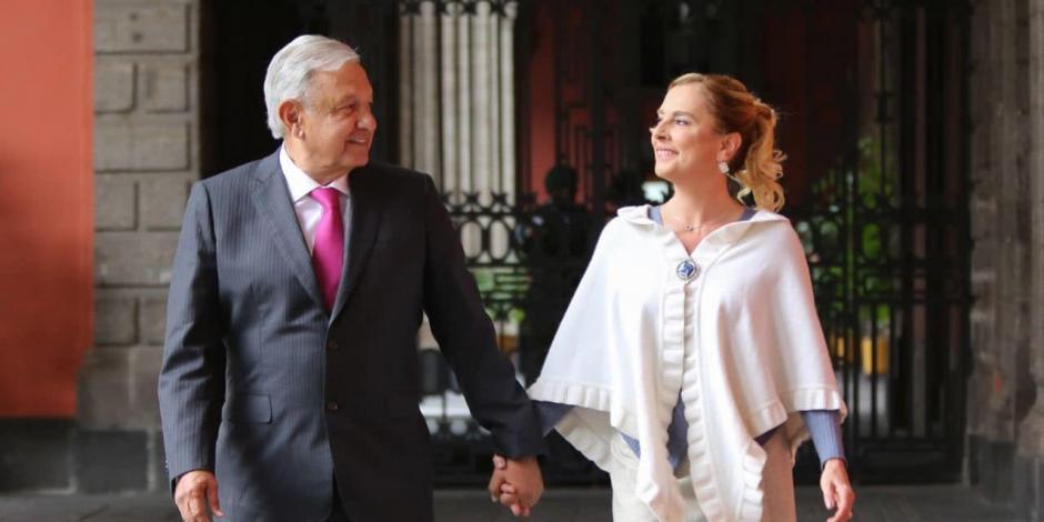 AMLO y Beatriz Gutiérrez Müller