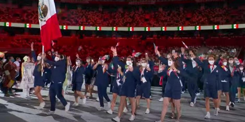Juegos Olímpicos 2021: México desfila con su tercera delegación más grande en la historia