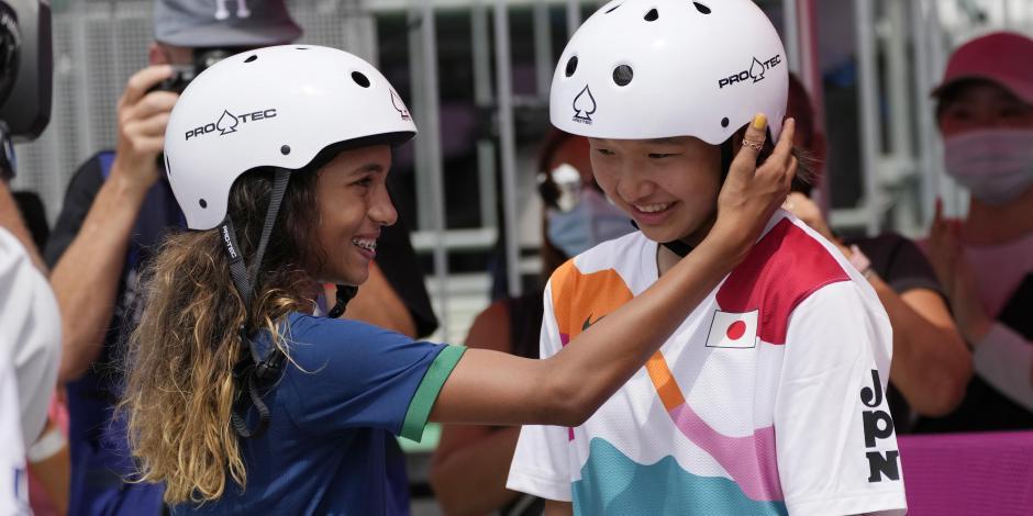 TOKIO 2020: Skate da el podio más joven de la historia, con ganadoras de 13 años