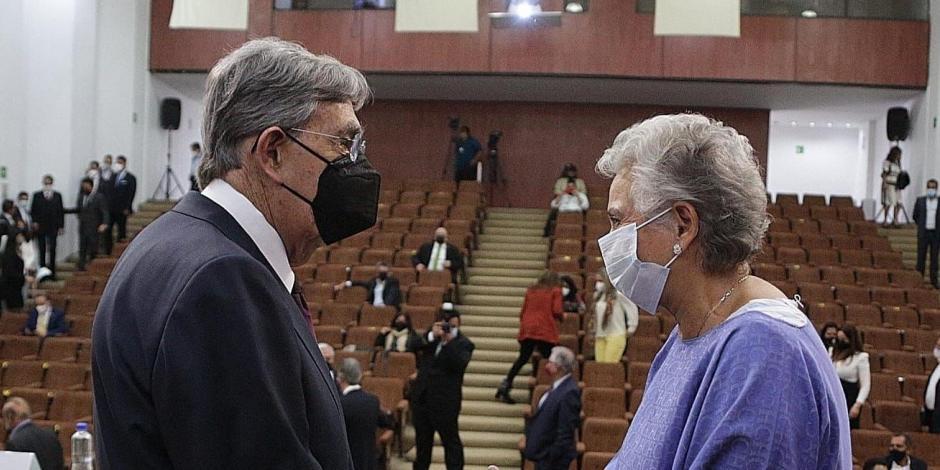 Olga Sánchez Cordero y Cuauhtémoc Cárdenas