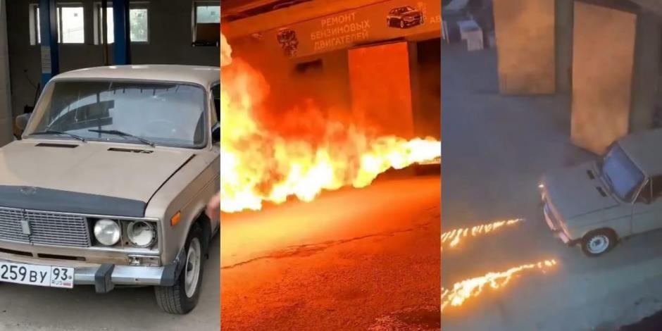 Mecánico transforma auto soviético en un