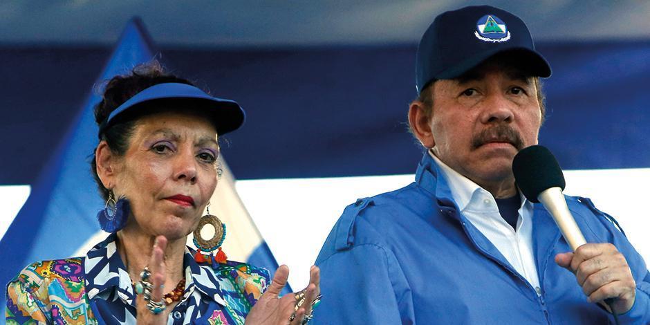 El presidente nicaragüense, Daniel Ortega, y su esposa Rosario Murillo en imagen de archivo.