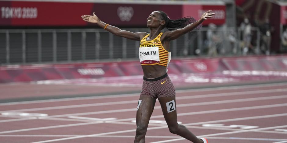 TOKIO 2020: Peruth Chemutai, primera mujer en ganar un oro olímpico para Uganda