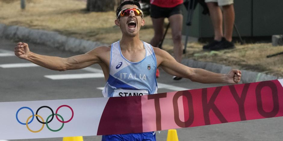 TOKIO 2020: Massimo Stano gana el oro en la marcha de 20km
