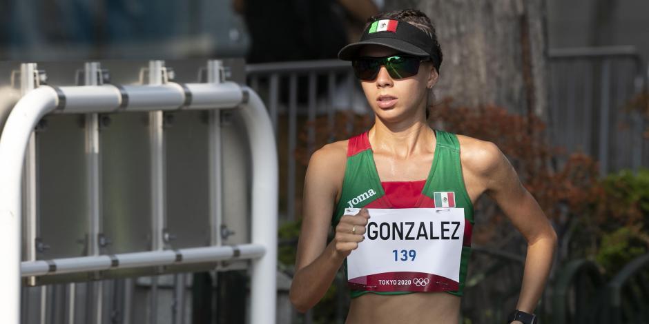 TOKIO 2020: Mexicana Alegna González termina quinta en la marcha de 20km
