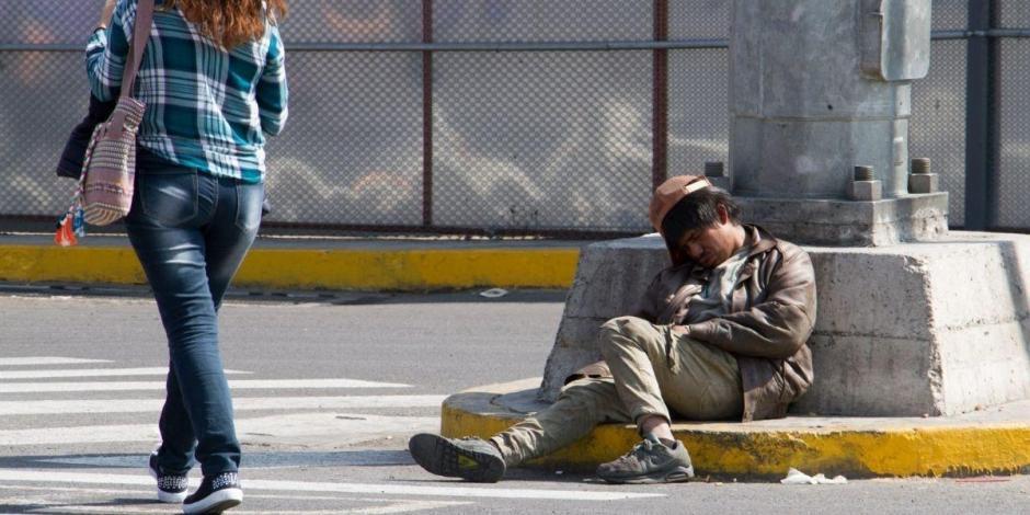 Pobreza México, persona en condición de calle
