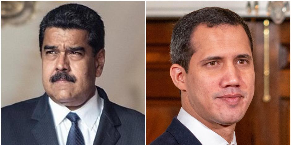 Juan Guaido y Nicolas Maduro