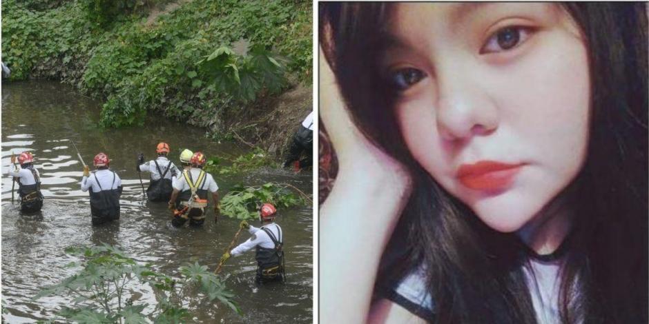 Localizan cuerpo de Ana Karen, joven arrastrada por una corriente de agua en Tlalnepantla