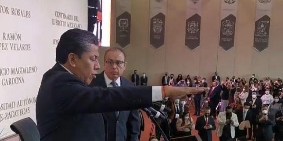 David Monreal rinde protesta como gobernador de Zacatecas