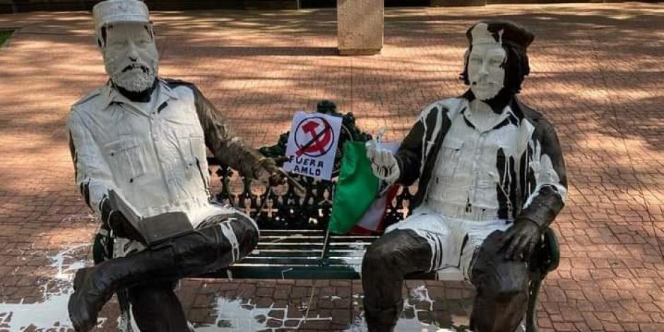 Estatuas de Fidel Castro y del