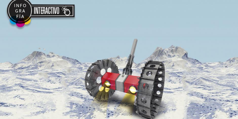 Bruie, el rover de la NASA que se prepara en la Antártida para explorar luna de Júpiter Bruie, el rover de la NASA que se prepara en la Antártida para explorar luna de Júpiter