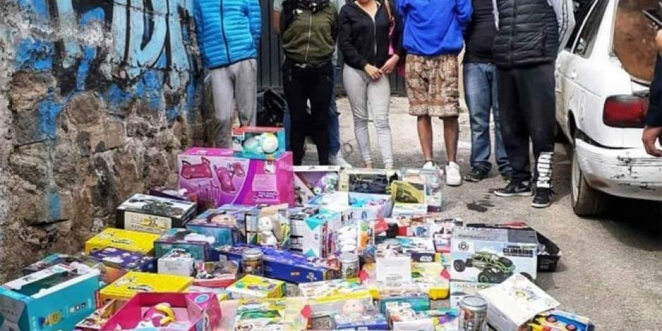 Caen 7 por robar juguetes y celulares en la Magdalena Contreras