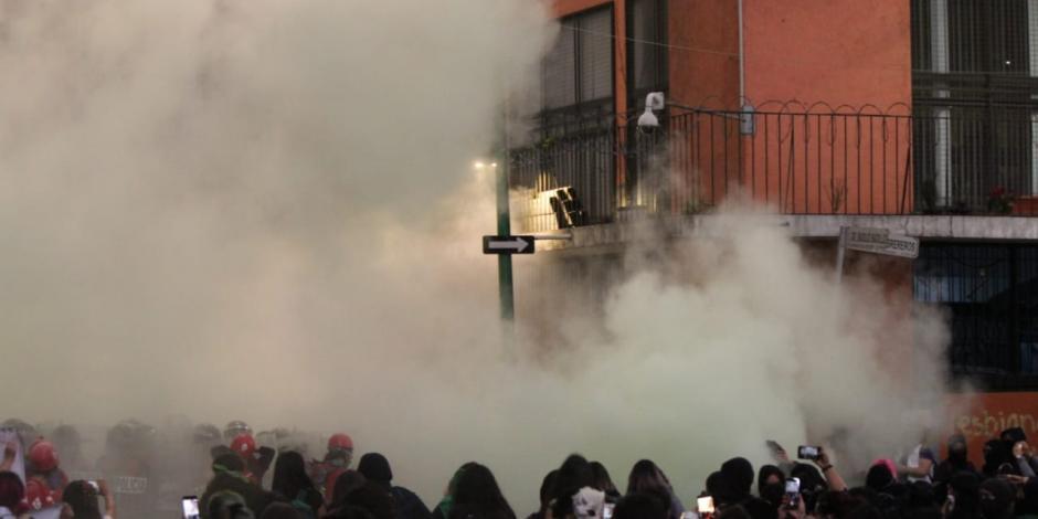 ...Y Gobierno niega uso de gas contra manifestantes
