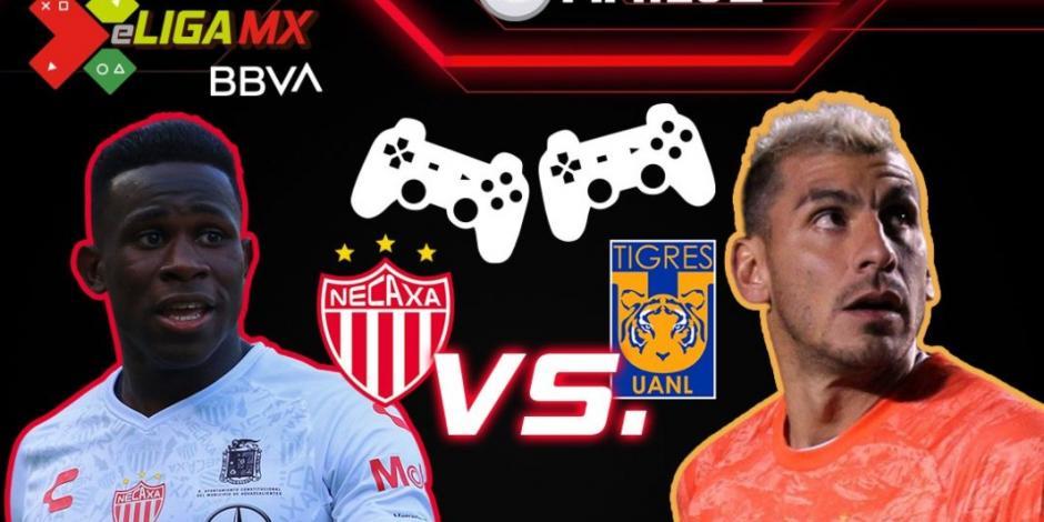 Tigres aplasta a Necaxa en Jornada 11 de la eLiga MX (VIDEO)