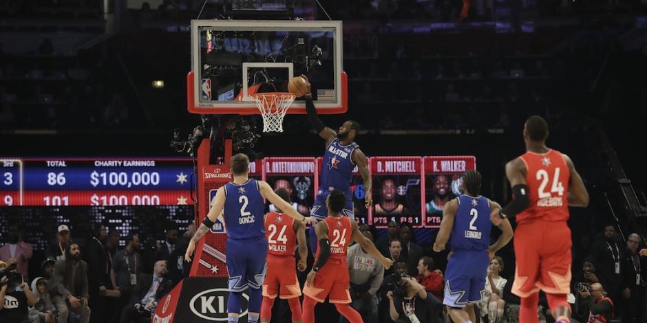 En una noche de homenajes a Kobe, Team LeBron gana All-Star