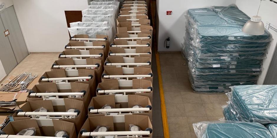 Insabi distribuye más de mil camas para pacientes con COVID-19