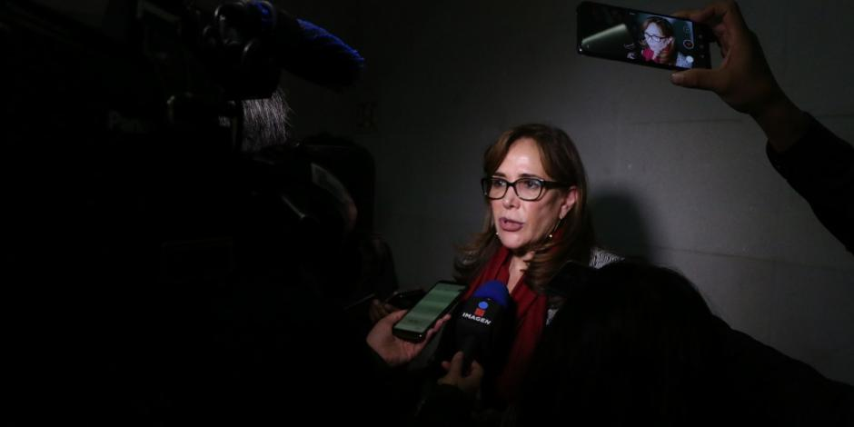 Para el INE Polevnsky es la presidenta nacional de Morena