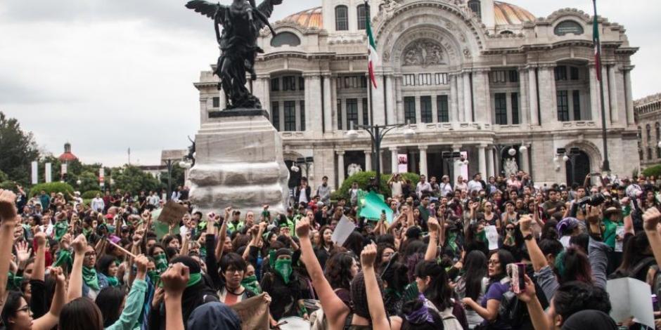 Alistan mil 660 policías para marcha feminista de Bellas Artes al Zócalo