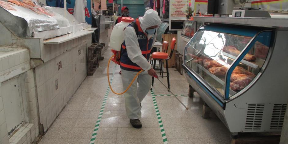 Instruye Santiago Taboada desinfectar mercados y edificios en BJ