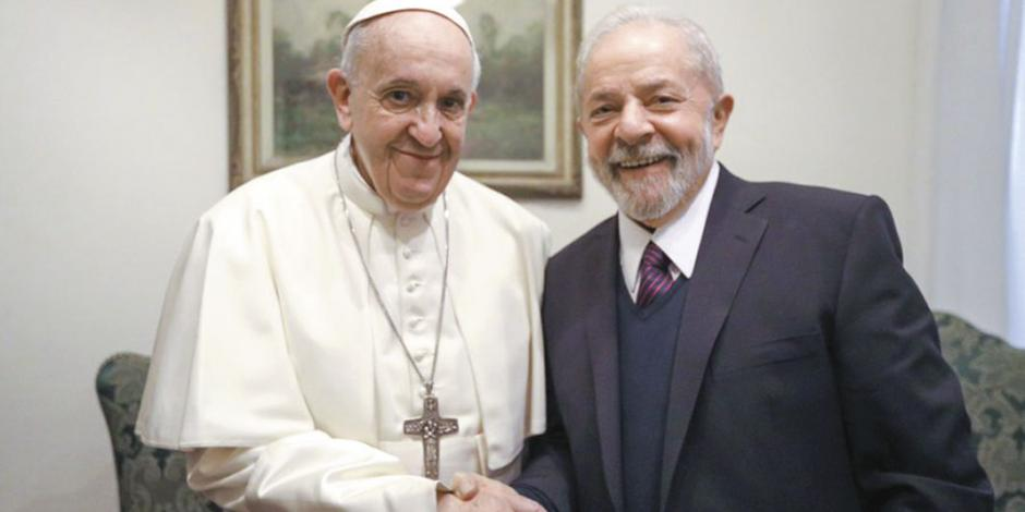 Lula recibe la bendición del Papa Francisco