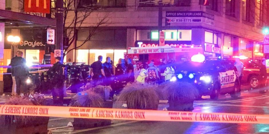 Tiroteo en centro de Seattle deja un muerto y 7 heridos
