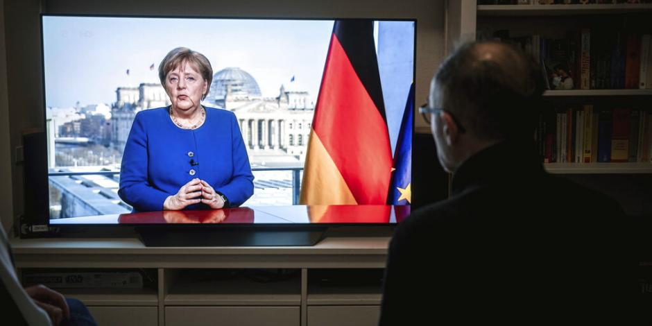 Covid-19, mayor reto para Alemania desde la II Guerra Mundial: Merkel