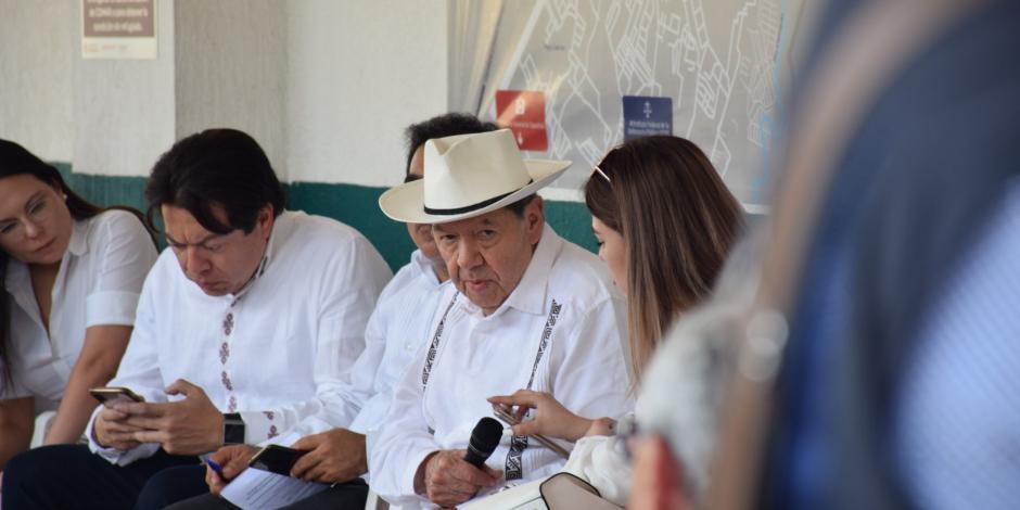 Visita a estación migratoria fue un maquillaje, una burla: Muñoz Ledo