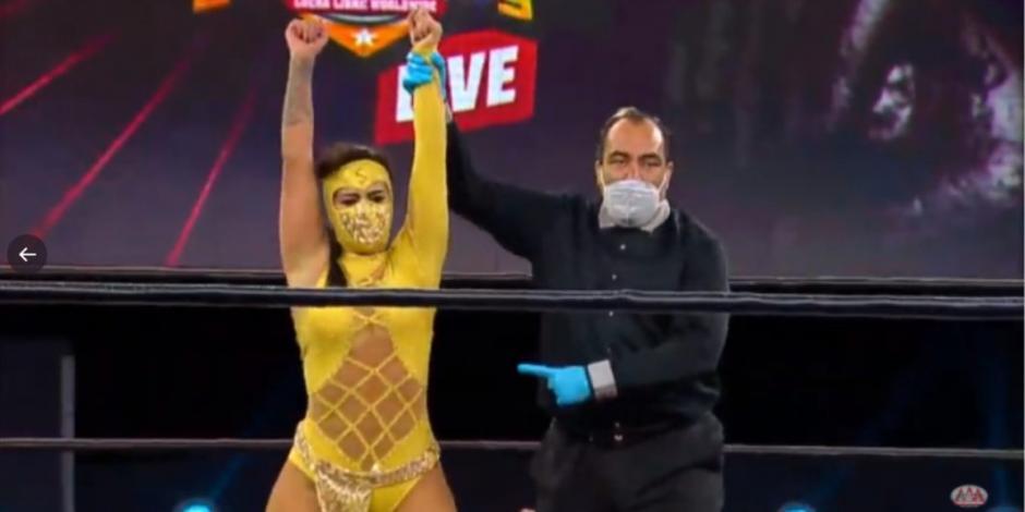 Lady Shani y La Hiedra van por título de Lucha Fighter AAA Live