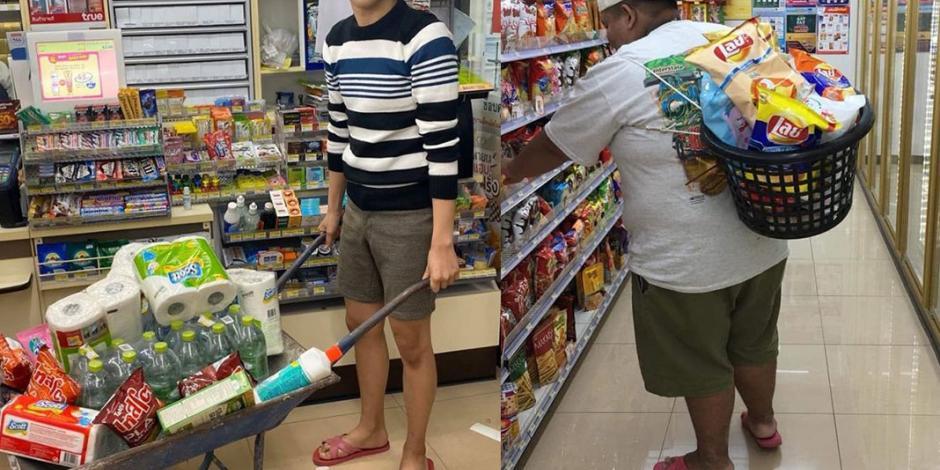 Tailandia prohibe bolsas de plástico y usan hasta la carretilla para comprar (FOTOS)