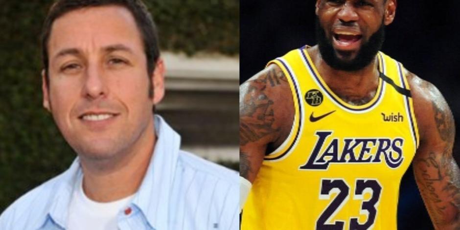 """Adam Sandler y LeBron James """"jugarán"""" basquetbol con Netflix"""
