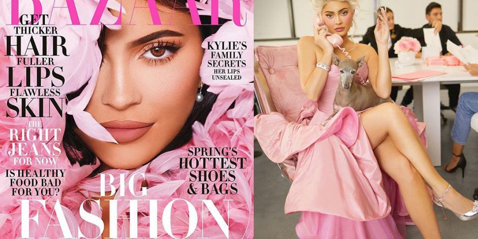 Kylie Jenner revela a Harper's Bazar la vida en rosa de la reina del maquillaje (FOTOS)