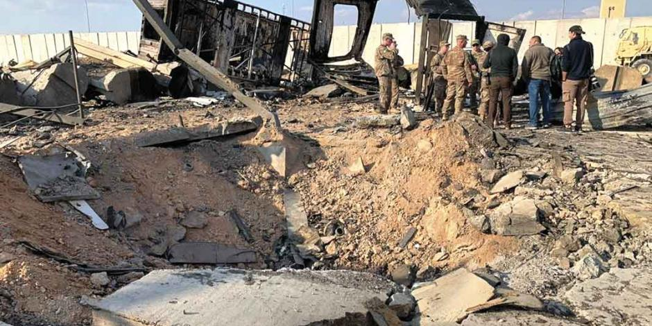 Con daño cerebral, 34 soldados de EU tras ataque de Irán a base área