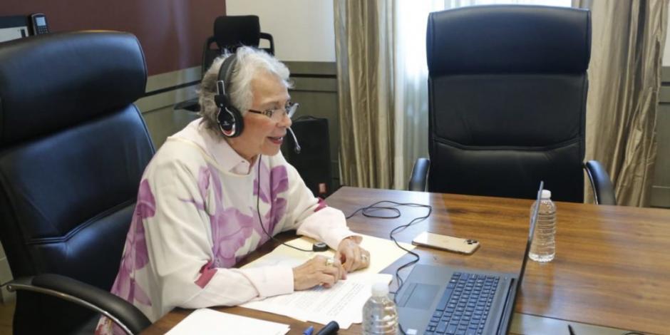 Sánchez Cordero asegura que pandemia visibilizó aún más violencia a mujeres