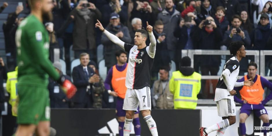 Cristiano Ronaldo anota por noveno juego en fila con la Juventus