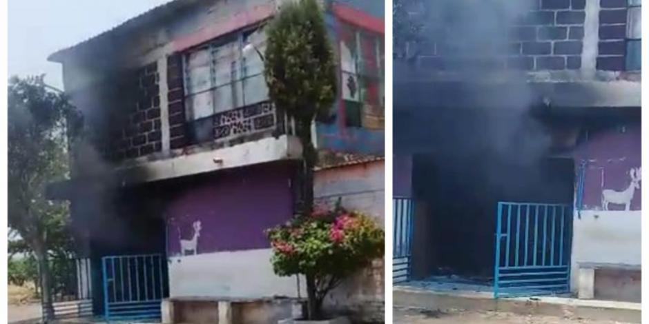 Prenden fuego a casa donde vendían alcohol adulterado en Axochiapan