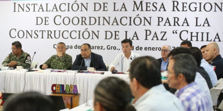 Astudillo refuerza seguridad en Chilapa en coordinación con la Federación