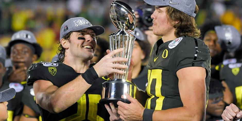 Oregon derrota a Wisconsin y se queda con el título del Rose Bowl 2020