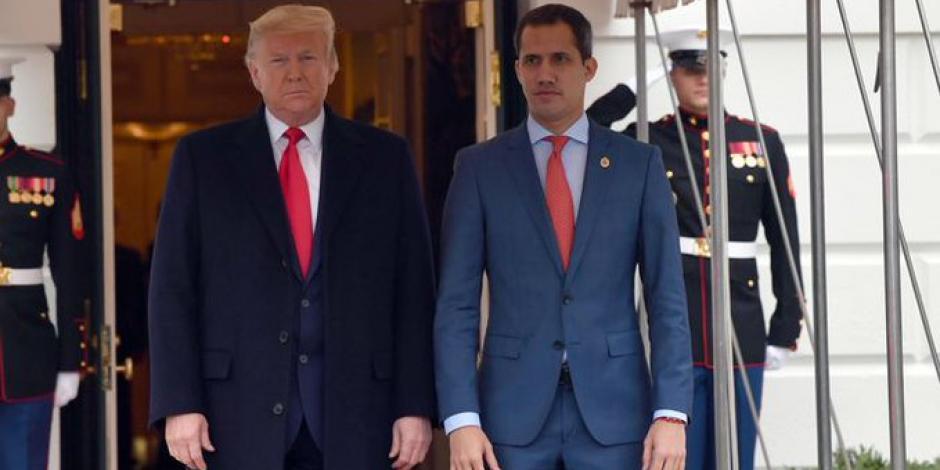 Por primera vez, Donald Trump se reúne con Juan Guaidó
